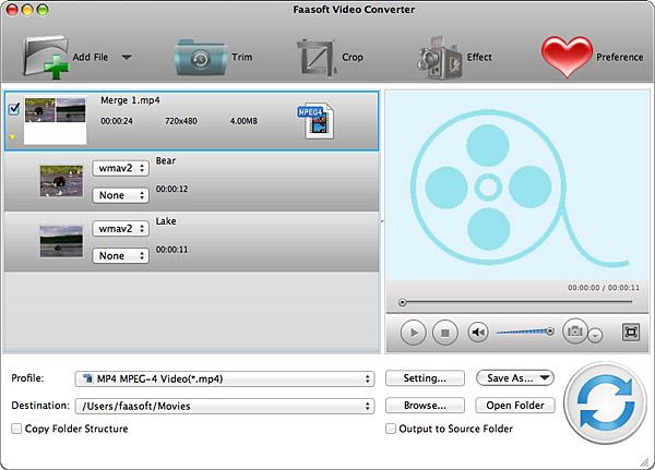 Faasoft Video Converter for Mac Screen shot