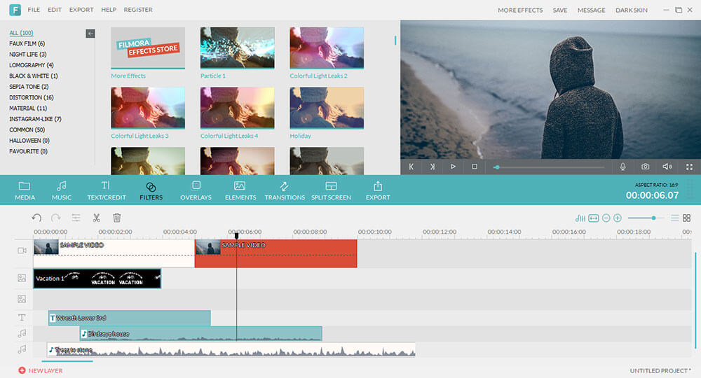 The unprecedented video editor with diversified editing features